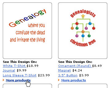 Example of Fun Genealogy Products